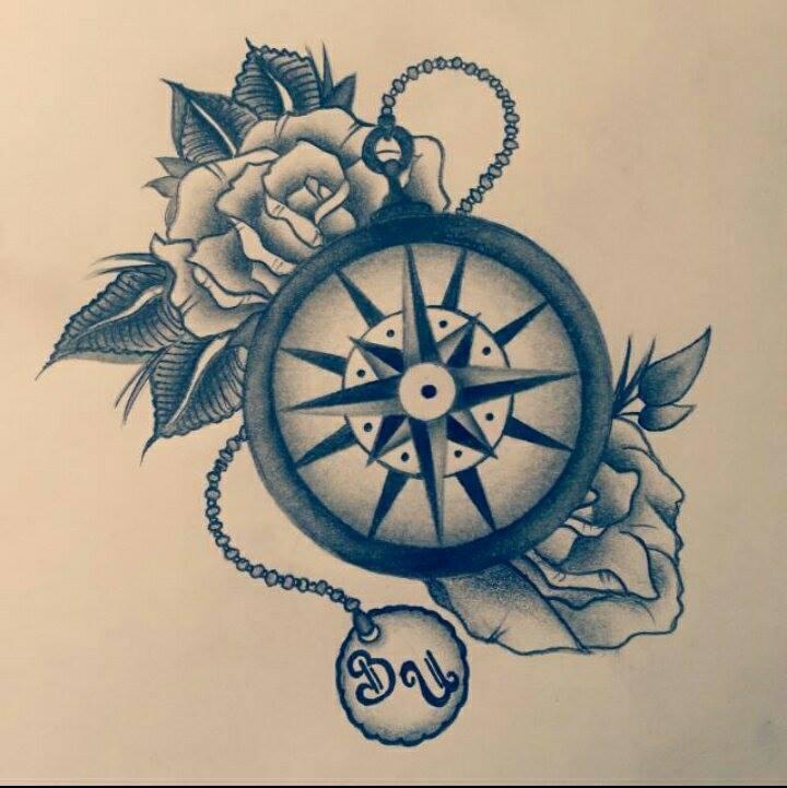 Kompass Tattoo Vorlage Qj93 Startupjobsfa