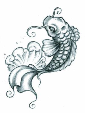 Koi auf den unterarm in welche richtung soll er for Small coy fish
