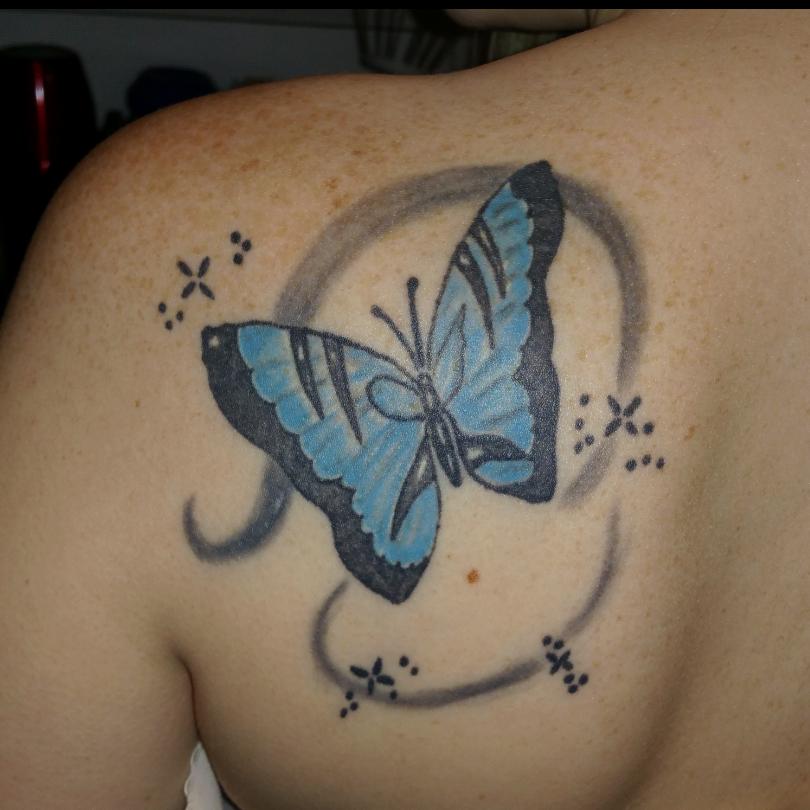 Schmetterling Desaster. Anregungen für Cover up | Tattoo-Bewertung.de