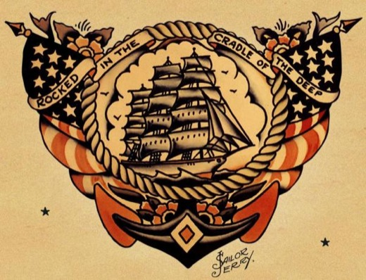 tattoo sailor jerry: schiff
