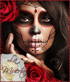 la catrina motiv e gesucht tattoo. Black Bedroom Furniture Sets. Home Design Ideas