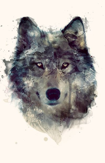wolf aquarell umsetzbar tattoo. Black Bedroom Furniture Sets. Home Design Ideas