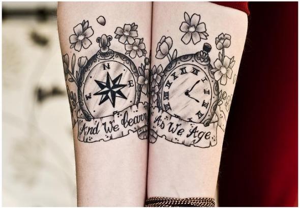 kompass tattoo. Black Bedroom Furniture Sets. Home Design Ideas