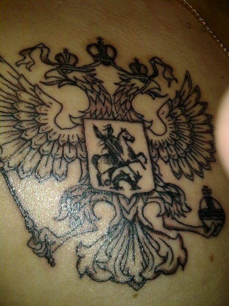 dima49: Russischer Zweikopfadler | Tattoos von Tattoo-Bewertung.de