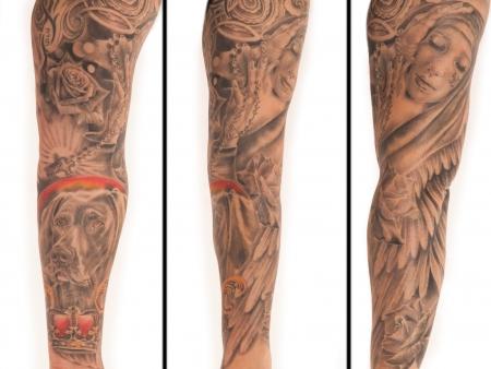 madonna-Tattoo: Sleeve