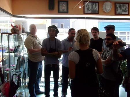 Überraschungsgäste aus Miami in unserem Stammstudio..........