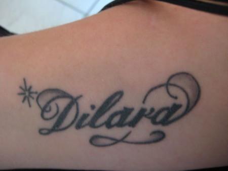erstes Tattoo.....Name meiner Tochter...