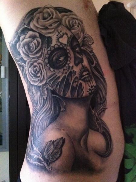 victor portugal-Tattoo: Sugar Skull (Fertig) :)
