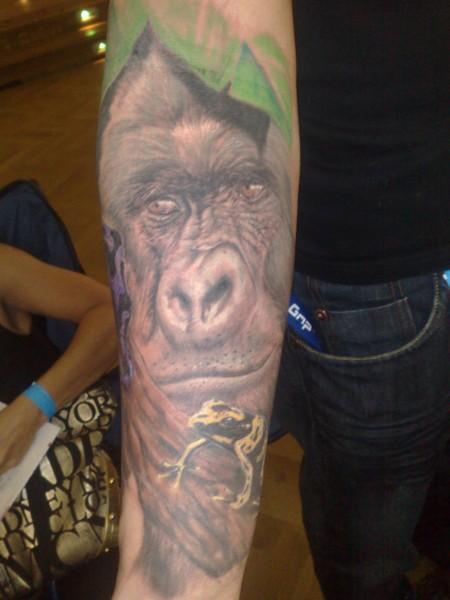 gorilla-Tattoo: Silberrücken Gorilla