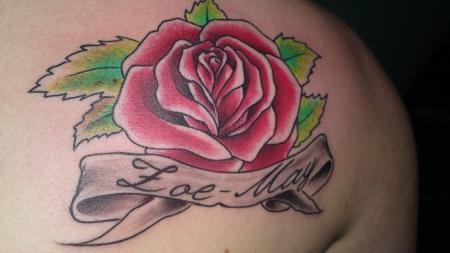 jeybi90 rose mit namen tattoos von tattoo. Black Bedroom Furniture Sets. Home Design Ideas