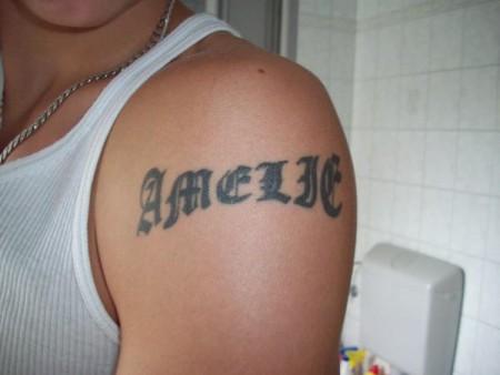 """Fuer meine Schwester """"Amelie"""" Mein erstes Tattoo"""