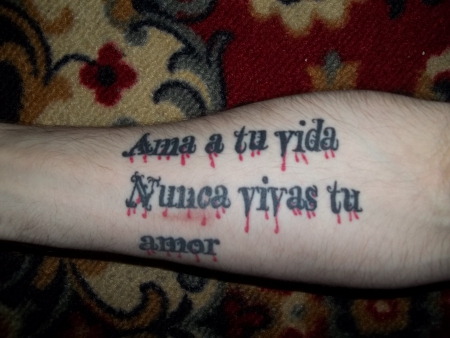 DiabloAlma: Spanischer Spruch | Tattoos von Tattoo-Bewertung.de