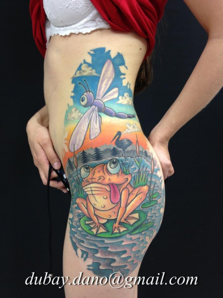 frosch-Tattoo: Tattoo by Dano