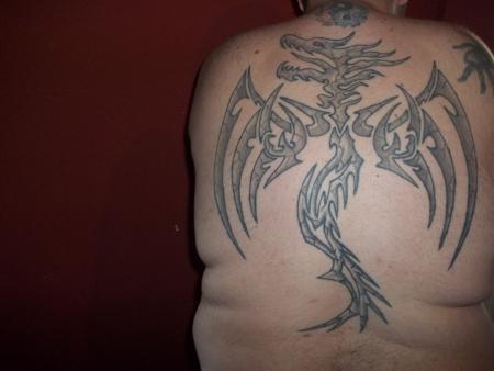 dracheneinheit32 stein drache tattoos von tattoo. Black Bedroom Furniture Sets. Home Design Ideas