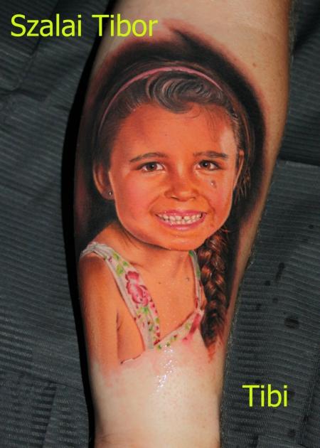 Portrait Kind - Tattoo by Tibor Szalai
