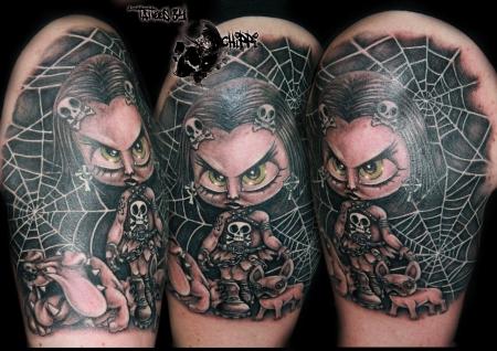 mädchen-Tattoo: b&g