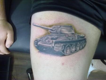 jimmy herzog panzer t34 85 tattoos von tattoo. Black Bedroom Furniture Sets. Home Design Ideas