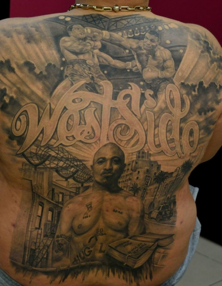 """West Side ""  Mike Tyson & 2 Pac  By Lazar Lazarov  Godfathers Tattoo Nürnberg"