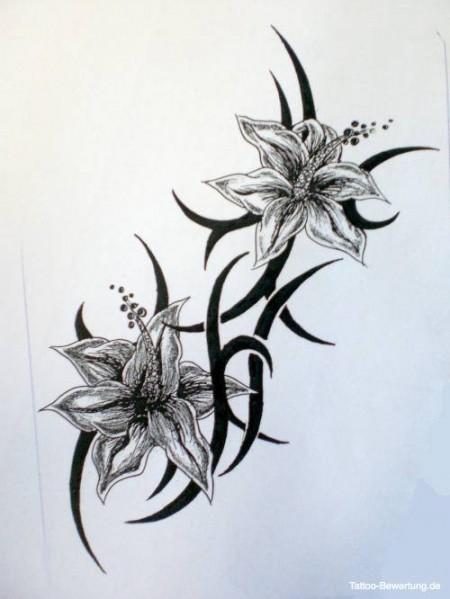 Blumen Tattoo Motive Schwarz Weiss Hylen Maddawards Com