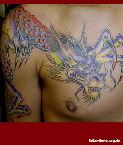 Tattoos » Japanisch Brust und Dekolleté Oberarm Schulter | Tattoos