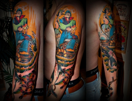 Oldschool Tattoo made by Gast-Artist Ikits Tamàs