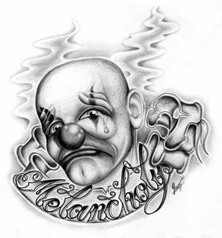 Tattoos Drawings on Nevergrowup  Clown Chicano   Tattoos Von Tattoo Bewertung De