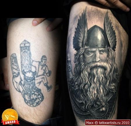 wikinger-Tattoo: krieger