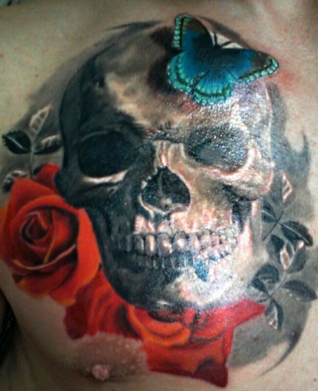 totenkopf-Tattoo: Totenkopf