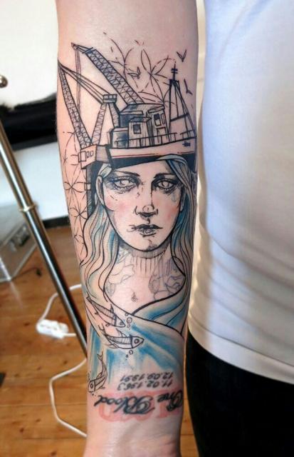 schriftzug-Tattoo: mal wieder was nettes von Anki