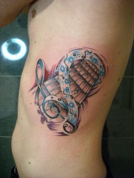 gitarre-Tattoo: Guitar