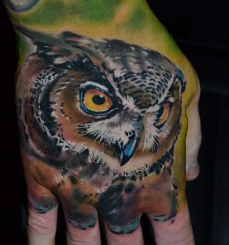 Owl on hand.