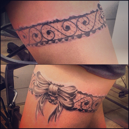 strumpfband-Tattoo: Strumpfband