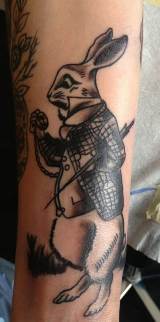 alice im wunderland-Tattoo: Alice im Wunderland