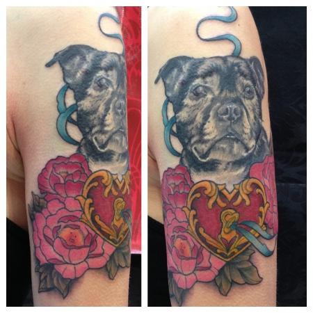 schloss-Tattoo: staffordshire-oldie