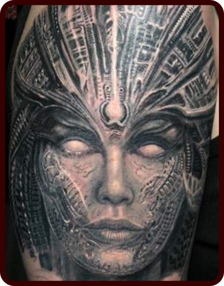 biomech-Tattoo: Biomech Lady