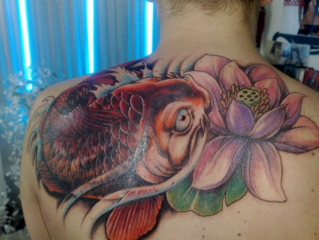 koi -cover up...danach