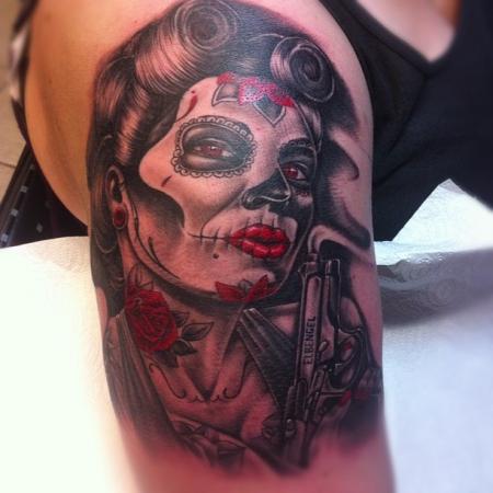 carpe diem-Tattoo: la catrina