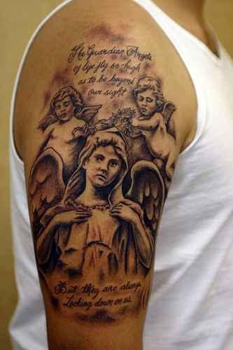 maria-Tattoo:  Maria und ihre Engel....
