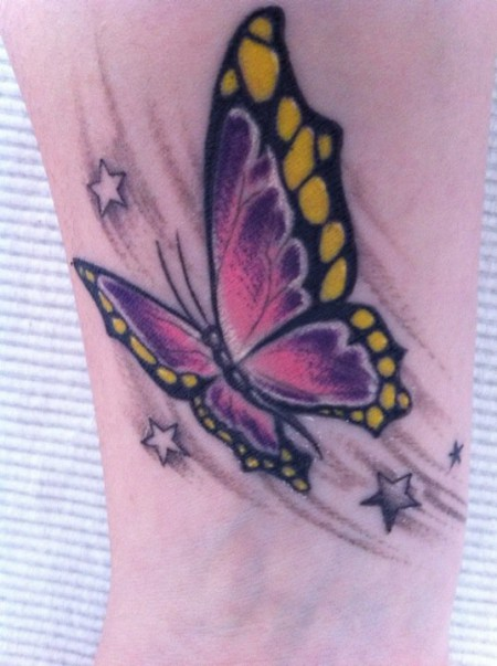 sunce2010 schmetterling 4 sterne tattoos von tattoo. Black Bedroom Furniture Sets. Home Design Ideas