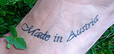 kleeblatt-Tattoo: Made in Austria