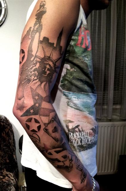 tat frank ami arm dotwork komplett tattoos von tattoo. Black Bedroom Furniture Sets. Home Design Ideas
