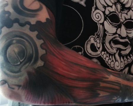 theoretisch muskelfaser mechanik tattoos von tattoo. Black Bedroom Furniture Sets. Home Design Ideas