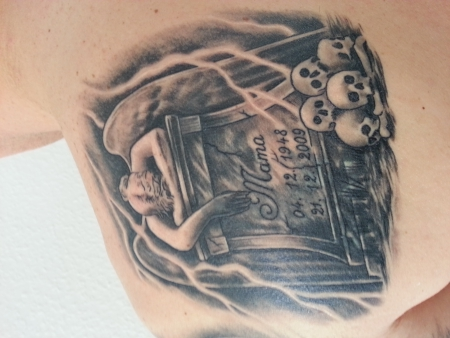 Grabstein Cover Up