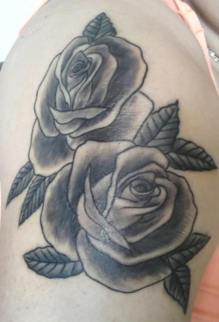 nitrobaby rosen tattoos von tattoo. Black Bedroom Furniture Sets. Home Design Ideas