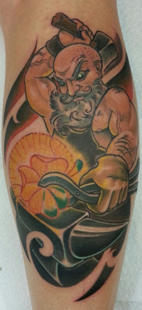 kleeblatt-Tattoo: schmied