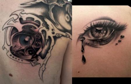 Tat Frank Augen Tattoos Von Tattoo Bewertungde
