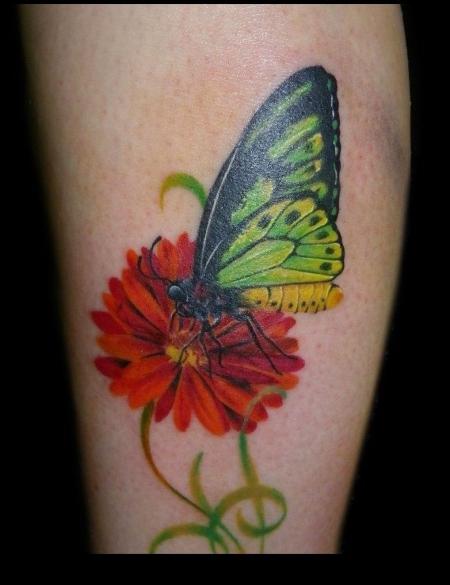 schmetterling-Tattoo: Schmetterling