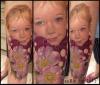 Kinderportrait, Mädchen und Heckenrosen