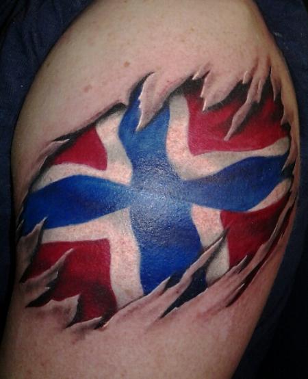 Union Jack Tribal Tattoo Designs