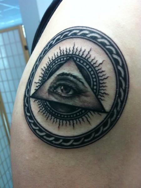 ägypten-Tattoo: Auge